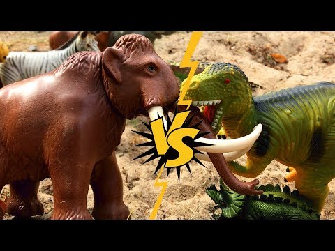 Fun Animals Toys Stories For Kids - Wild Animals vs Dinosaur