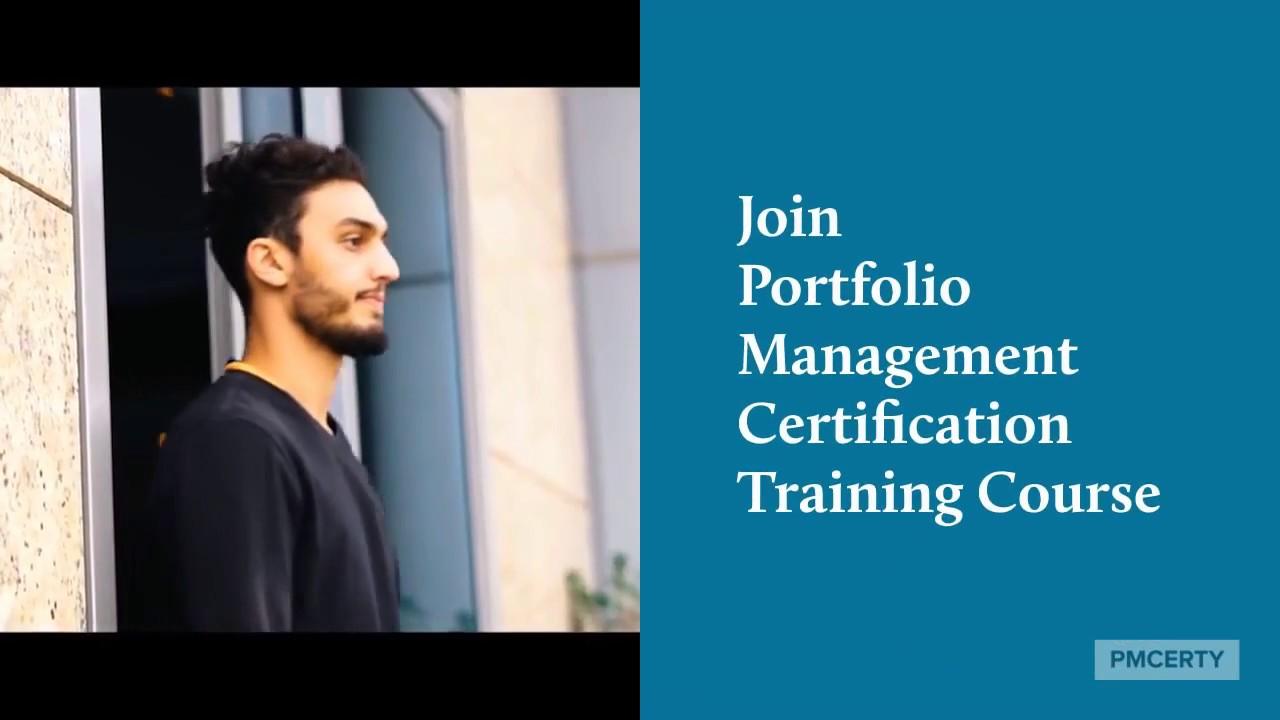 Portfolio Management Certification Training Course Youtube