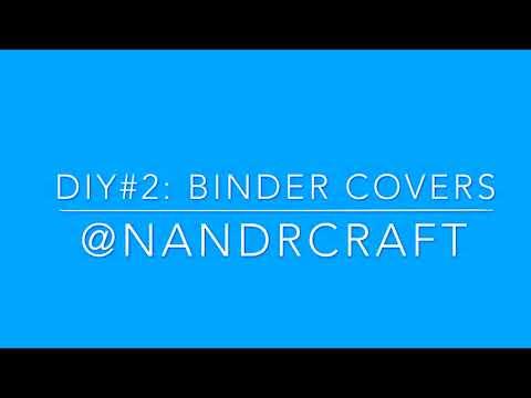 DIY Binder Covers - YouTube