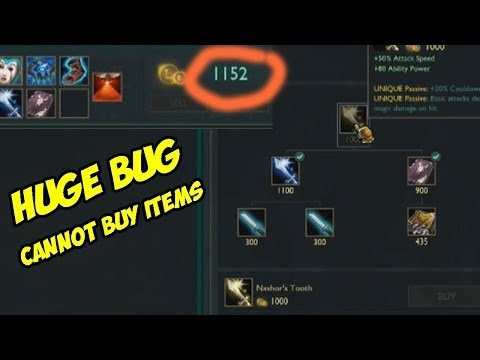 Game-breaking Bug. Cannot Buy Items!! Riot Games Please Fix