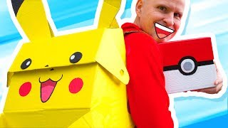 Taking The Pikachu Backpack To Town | Pokémon DIY on BoxYourself
