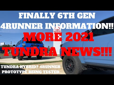 NEXT GEN 4RUNNER AND TUNDRA NEWS!! ALSO TACOMA GETS POWER SEATS!!!