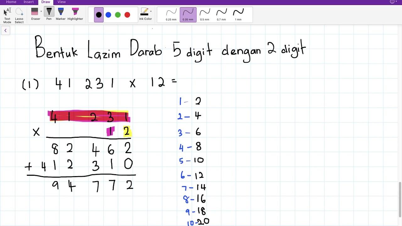 Matematik Tahun 4 Darab Bentuk Lazim 2 Cikgootube Youtube