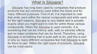 What Is Siloxane?
