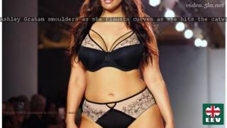 Repeat youtube video Ashley Graham smoulders as she flaunts curves as she hits the catwalk in lacy lingerie