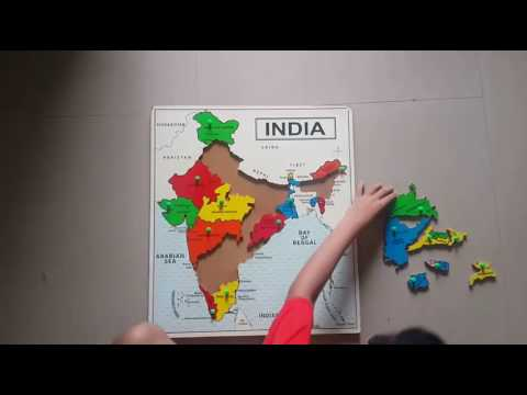 India Map Puzzle.St 2224 India Map Wooden Educational Puzzle Youtube