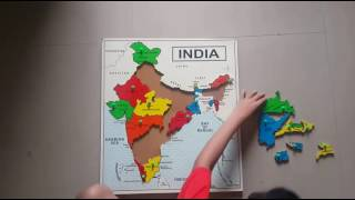 ST-2224 India Map Wooden Educational Puzzle