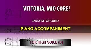 Vittoria, mio core! / Carissimi: Karaoke + Score guide / High voice Dmaj