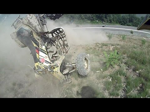 [HILLCLIMB OHIO] My Quad tumbles down Lookout, Extreme close call, 7-19-15 Wellsville, Oh