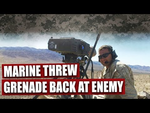 This Marine sniper threw the enemy's grenade back to save his brothers