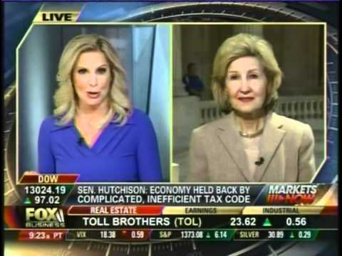 Sen. Hutchison Discusses Tax Reform on Fox Business with Host Cheryl Casone