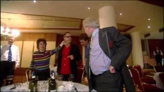 Drunk old man starts on Vic Reeves at Gumball 3000 pit stop