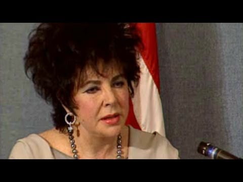 Elizabeth Taylor News Clips On AIDS
