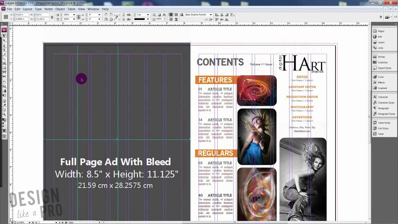 How to Determine Magazine Ad Sizes // MAGAZINE DESIGN - YouTube