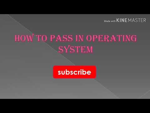 How To Pass Operating Systems In Tamil