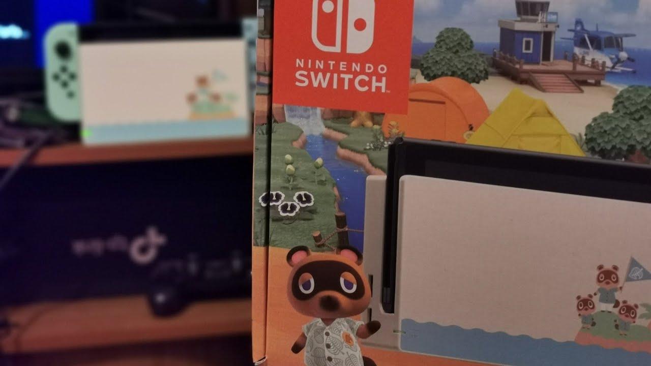 UNBOXING EN ESPAÑOL   Nintendo Switch de Animal Crossing ...