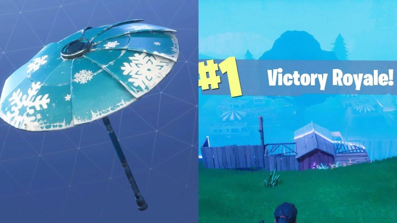 unlocking snowflake umbrella fortnite victory royale - fortnite snowflake umbrella
