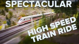 Fantastische ICE Highspeed Zugfahrt durch Deutschland