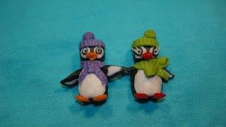 Урок №8 Пингвины магниты из полимерной глины. Мастер класс. Polymer clay
