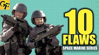 10 FLAWS with the STARSHIP TROOPERS Mobile Infantry | BEST SPACE MARINE SERIES
