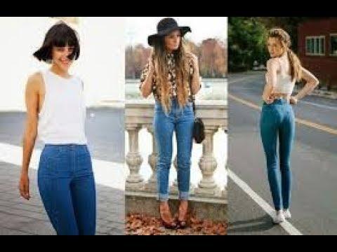 Самые модные женские джинсы фото - YouTube
