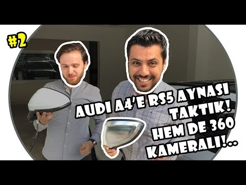 RS5 360Deg View Surround Side Mirrors on an Audi A4! (SUBTITLED)