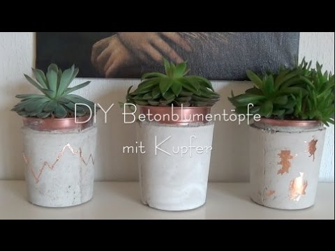 diy beton blumentopf mit kupfer ikea hack youtube. Black Bedroom Furniture Sets. Home Design Ideas
