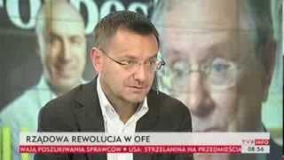 Janusz Jankowiak m.in. o zmianach w OFE (TVP Info, 20.09.2013)
