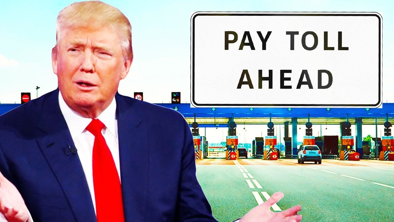 Image result for trump in a toll booth image