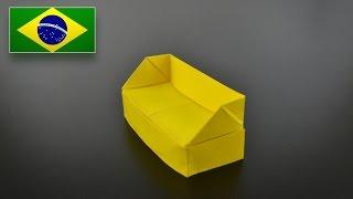 Origami: Sofá - Instruções em Português BR