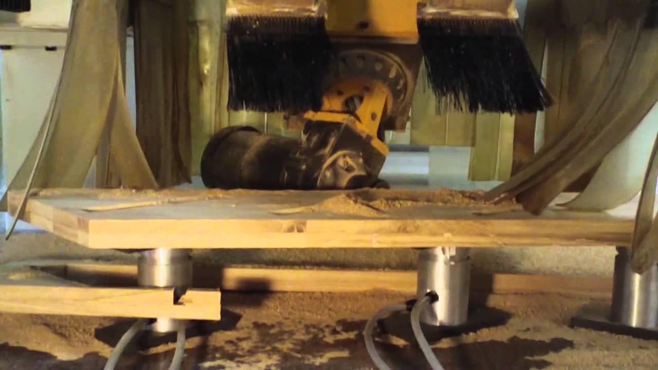 Bardzo dobry Cięcie schodów CNC - usługowe frezowanie schodów na CNC - YouTube NH64