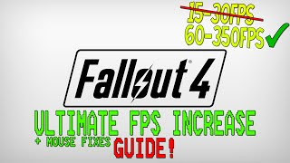 Fallout 4 - Dramatically increase performance FPS with any setup! + Mouse fixes