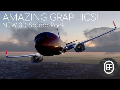 XP11 Amazing Realism!  | Must Have FREE 3D Sound Pack for ZIBO737 / Default 737 Demonstration