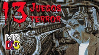 🎃TOP 13 JUEGOS DE TERROR DE MSDOS y SORTEO ESPECIAL HALLOWEEN [NO EMULATION]🎃