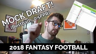 2018 Fantasy Football Mock Draft | 0.5 PPR Bestball DRAFT App