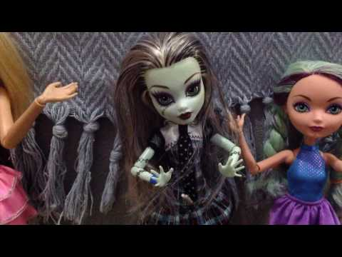 Stop motion divertido bonecas  (Monster High, Ever After High e Barbie)