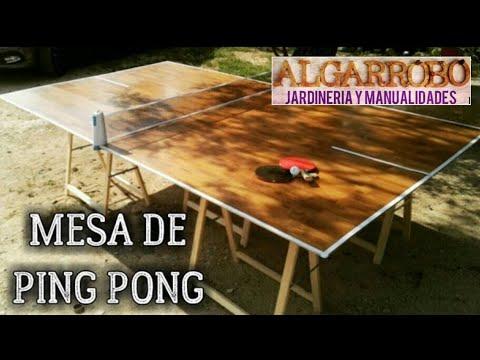 932cc34cc Cómo hacer una mesa de ping pong casera fácil con parquet - YouTube