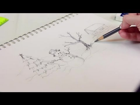 how to draw a simple christmas scene decorating for christmas - Simple Christmas Drawings