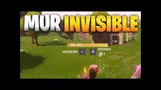 GLITCH FORTNITE HOW FAIR An INVISIBLE MUR ON FORTNITE!