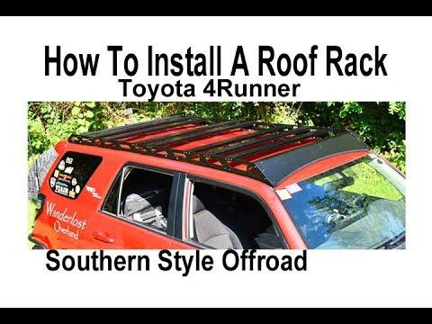Detailed Install Of Full Length No Drill Roof Rack On 5th Gen 4runner Youtube
