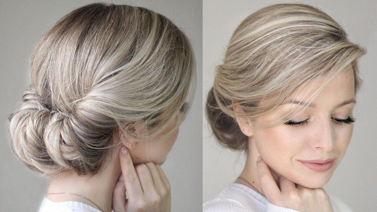 how to easy messy updo youtube