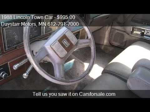 1988 Lincoln Town Car For Sale In Minnetonka Mn 55343 At Th Youtube