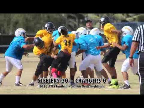 2016 AYFS Football Week No.2: Steelers 30 – Chargers 0 (1st Game)