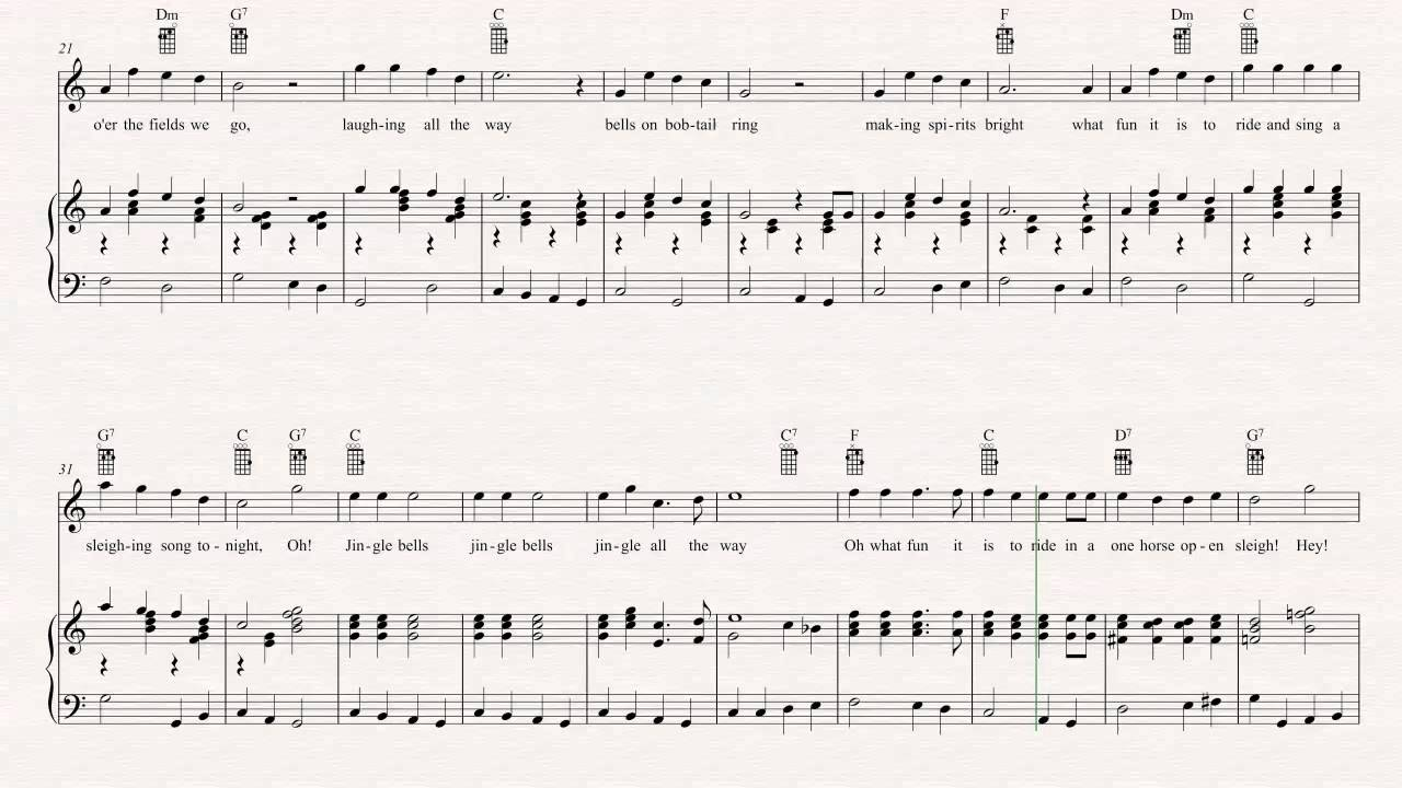 Beautiful Ukulele Chords Jingle Bells Adornment Song Chords Images