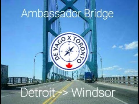 Ambassador bridge from Detroit MI to Windsor ON