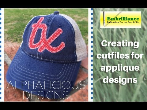 How to create applique cut files in embrilliance essentials youtube