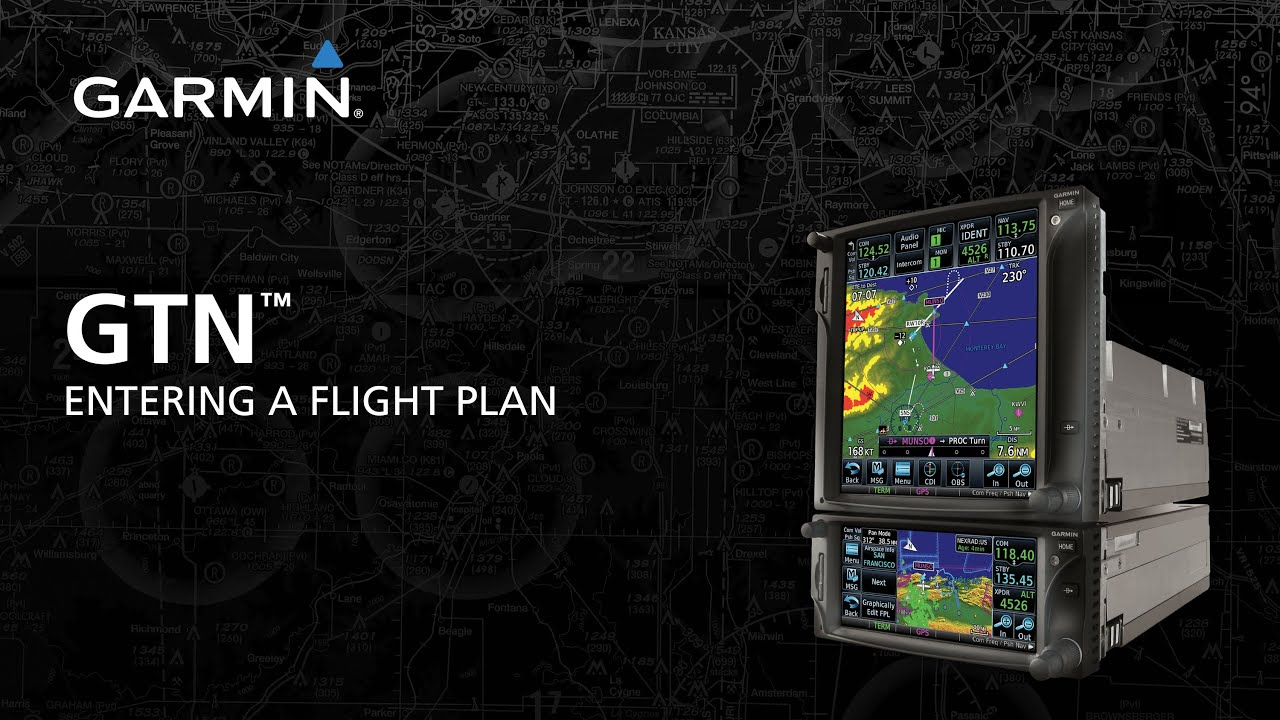 Garmin GTN™ Series: Entering a Simple Flight Plan