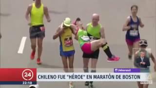 Notable gesto de Runner chileno en Maratón de Boston