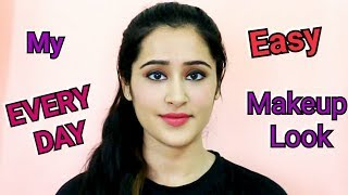 How to do Makeup Everyday(Hindi) | Easy Makeup for college / office |