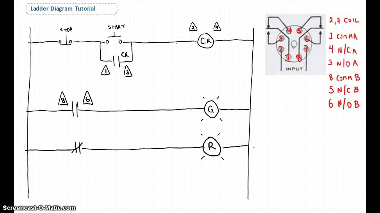 ladder diagram basics 1 youtube rh youtube com Reading plc Ladder Logic plc Logic Diagram Sample